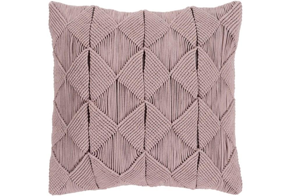 Accent Pillow-Macrame Diamonds Dark Taupe 18X18