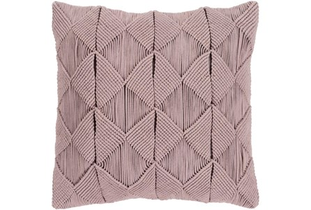 Accent Pillow-Macrame Diamonds Dark Taupe 18X18