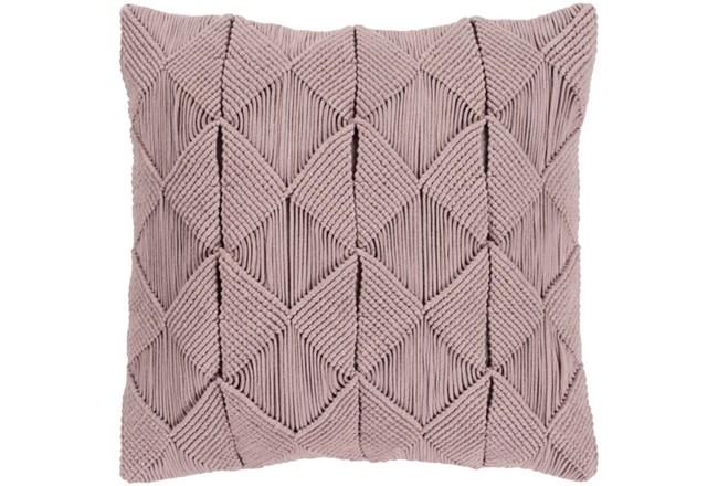 Accent Pillow-Macrame Diamonds Dark Taupe 18X18 - 360