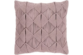 Accent Pillow-Macrame Diamonds Dark Taupe 20X20