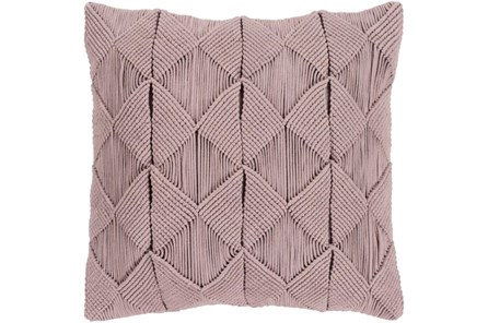 Accent Pillow-Macrame Diamonds Dark Taupe 20X20