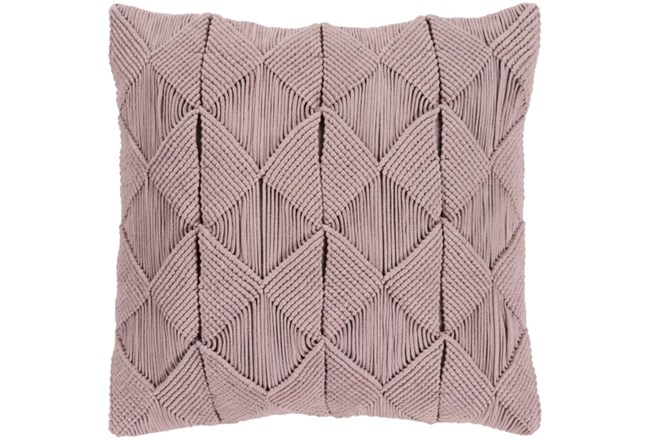 Accent Pillow-Macrame Diamonds Dark Taupe 20X20 - 360