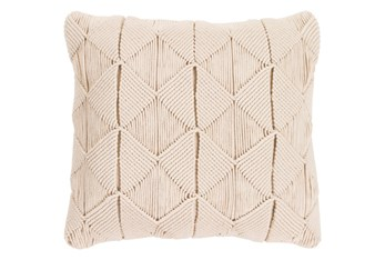 Accent Pillow-Macrame Diamonds Cream 18X18