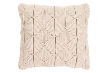 Accent Pillow-Macrame Diamonds Cream 20X20