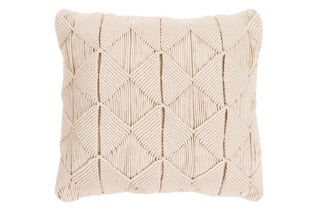Accent Pillow-Macrame Diamonds Cream 20X20