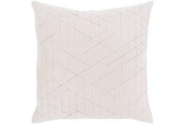 Accent Pillow-Geo Cut Velvet White 20X20