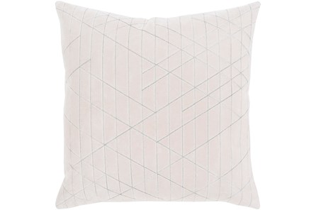 Accent Pillow-Geo Cut Velvet White 20X20