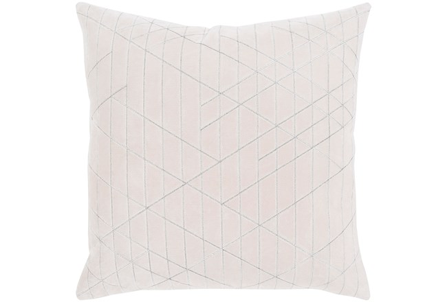 Accent Pillow-Geo Cut Velvet White 20X20 - 360