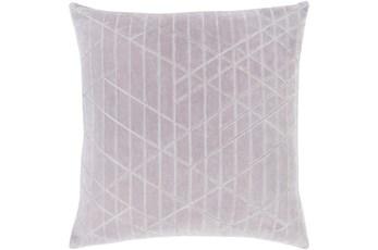 Accent Pillow-Geo Cut Velvet Silver 20X20