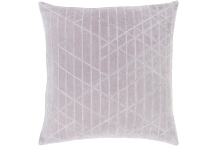 Accent Pillow-Geo Cut Velvet Silver 20X20