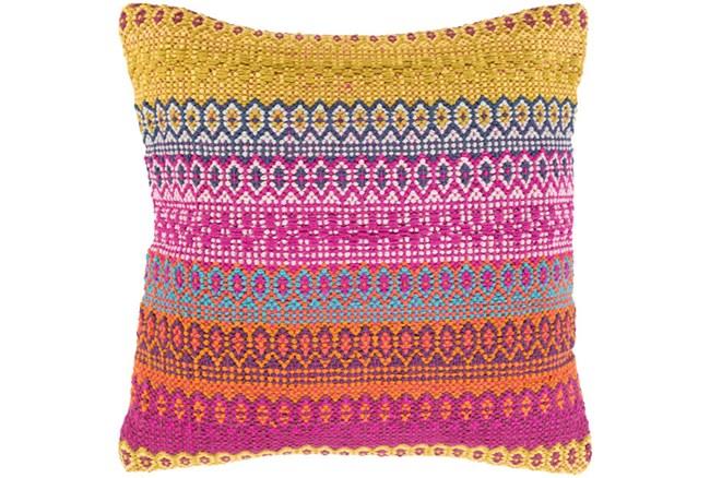 Accent Pillow-Retro Stripe Blue And Orange 20X20 - 360