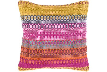 Accent Pillow-Retro Stripe Pink And Orange 20X20