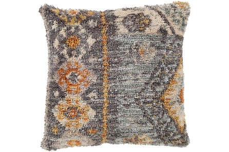 Accent Pillow-Shaggy Southwest Blue 18X18 - Main