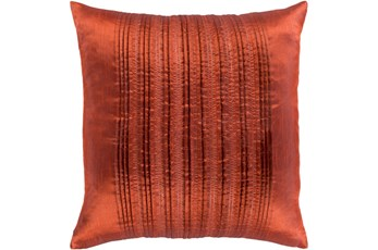 Accent Pillow-Pleated Stripes Paprika 18X18