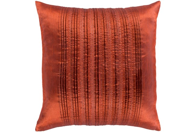 Accent Pillow-Pleated Stripes Paprika 18X18 - 360