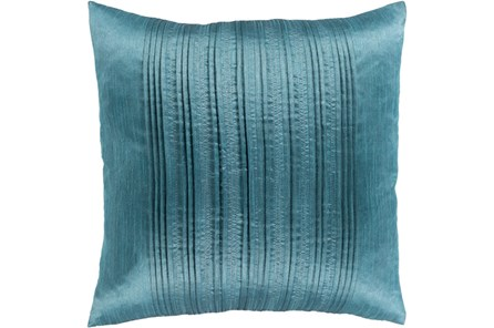 Accent Pillow-Pleated Stripes Teal 18X18 - Main