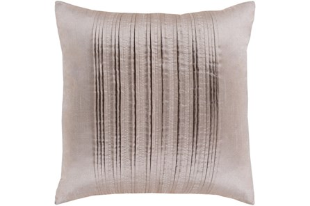 Accent Pillow-Pleated Stripes Taupe 18X18