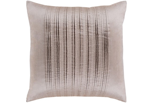 Accent Pillow-Pleated Stripes Taupe 18X18 - 360