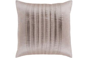 Accent Pillow-Pleated Stripes Taupe 20X20