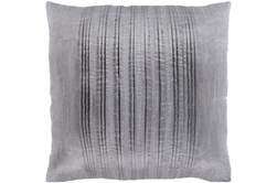 Accent Pillow-Pleated Stripes Silver 18X18