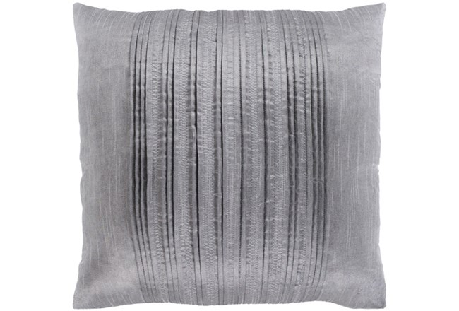 Accent Pillow-Pleated Stripes Silver 18X18 - 360