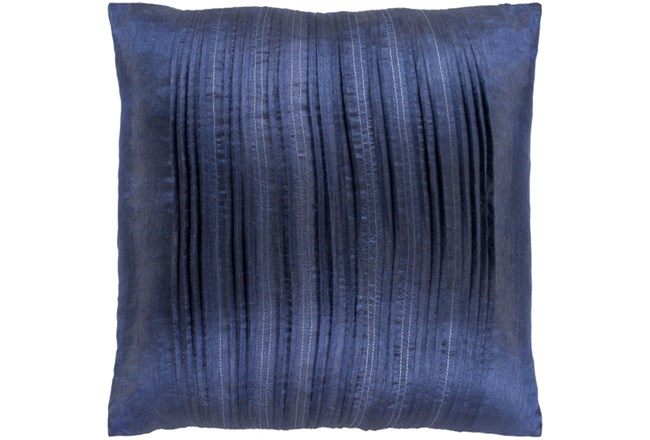 Accent Pillow-Pleated Stripes Blue 18X18 - 360