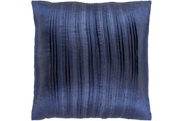 Accent Pillow-Pleated Stripes Blue 20X20