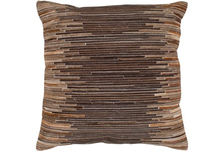 Accent Pillow-Hide Stripes Brown 20X20
