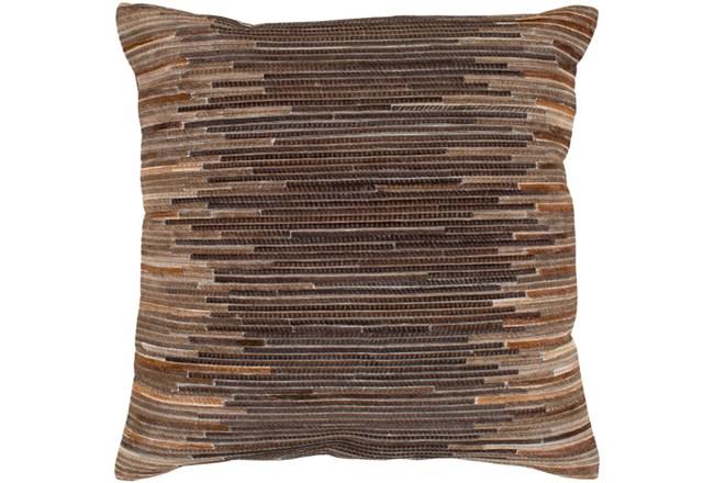 Accent Pillow-Hide Stripes Brown 20X20 - 360