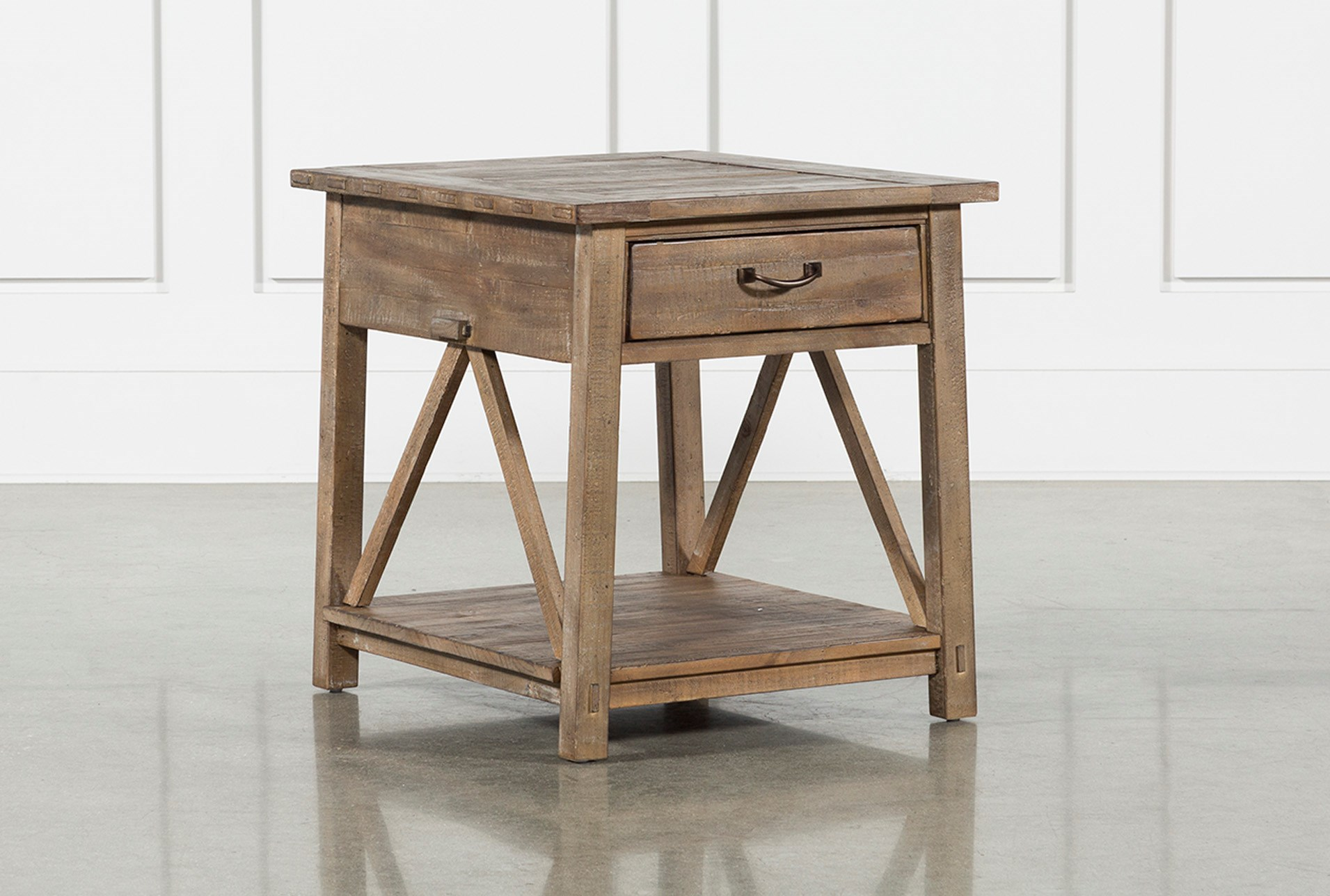 Craftsman Storage End Table Living Spaces