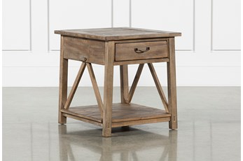 Craftsman Storage End Table