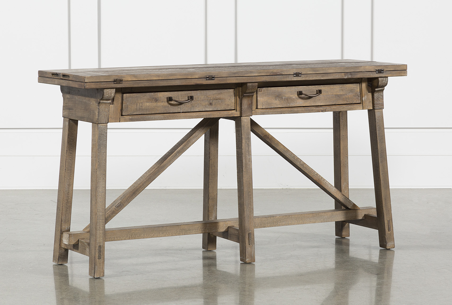 Picture of: Craftsman Flip Top 60 Sofa Table Living Spaces