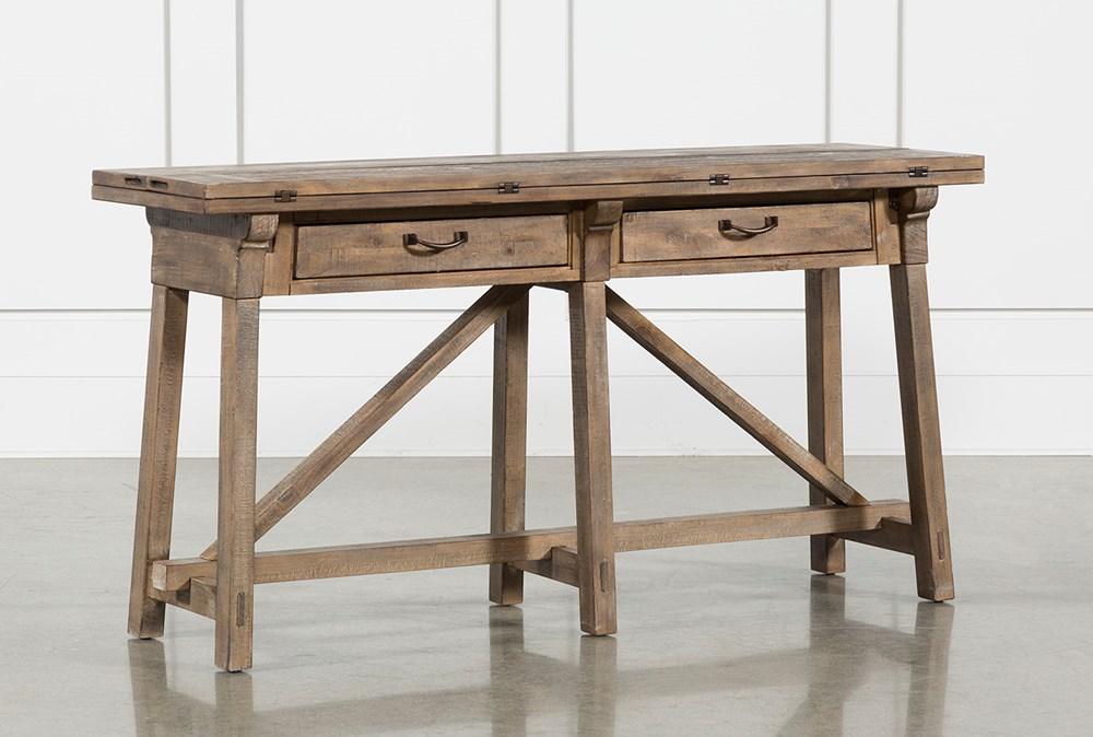 Craftsman Flip-Top Sofa Table