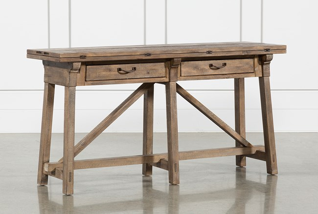 Craftsman Flip-Top Sofa Table - 360