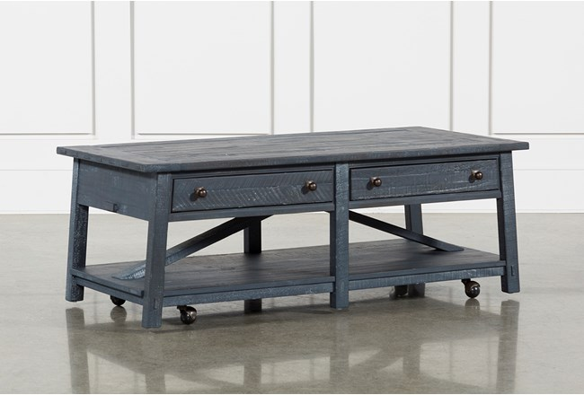Living Spaces Ontario : Ontario Cocktail Table With Casters  Living Spaces