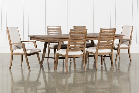Craftsman 7 Piece Rectangle Extension Dining Set With Arm & Side Chairs