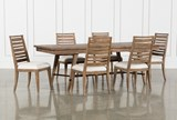 Craftsman 7 Piece Rectangle Extension Dining Set With Side Chairs - Signature