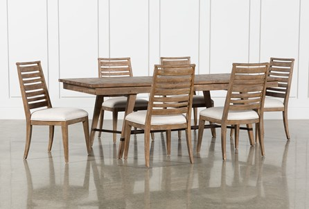 Craftsman 7 Piece Rectangle Extension Dining Set With Side Chairs