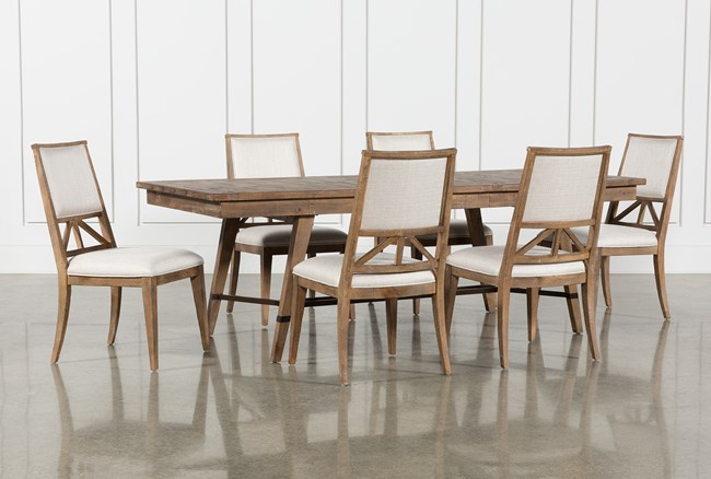 Craftsman 7 Piece Rectangle Extension Dining Set With Uph Side Chairs - 360
