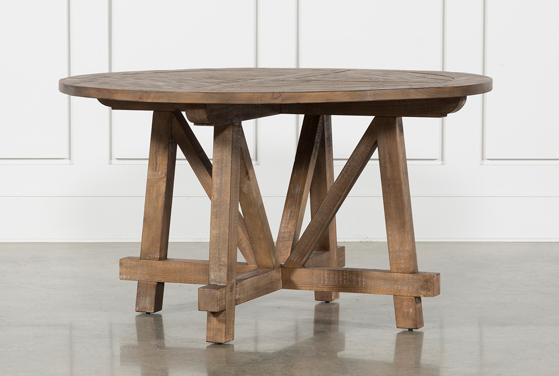 Craftsman Round Dining Table Living Spaces
