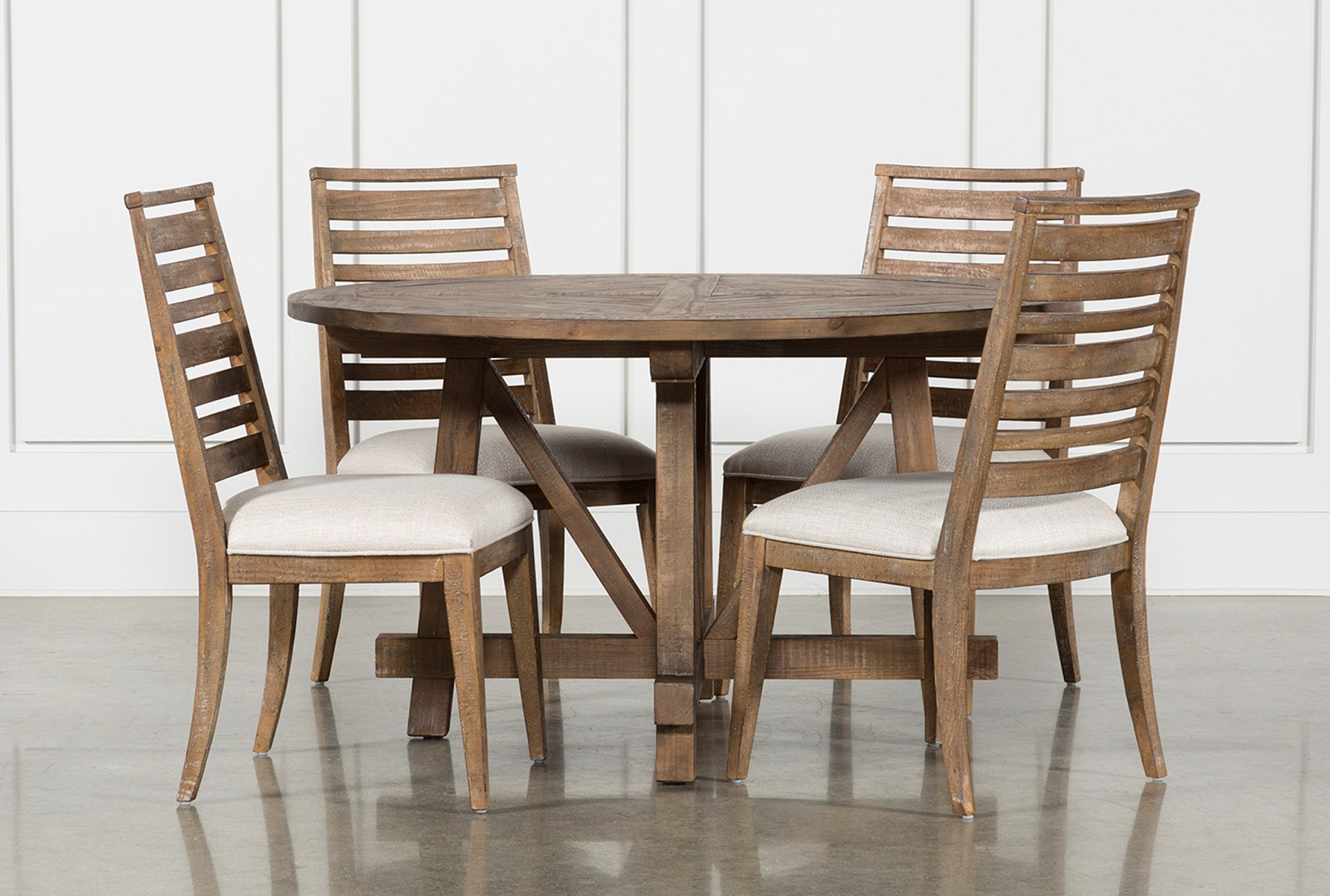 Craftsman 5 Piece Round Dining Set With Side Chairs Living Spaces