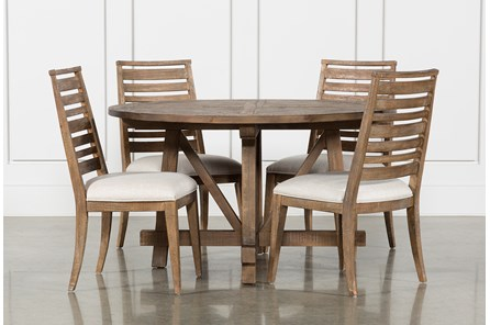 Craftsman 5 Piece Round Dining Set With Side Chairs - Main