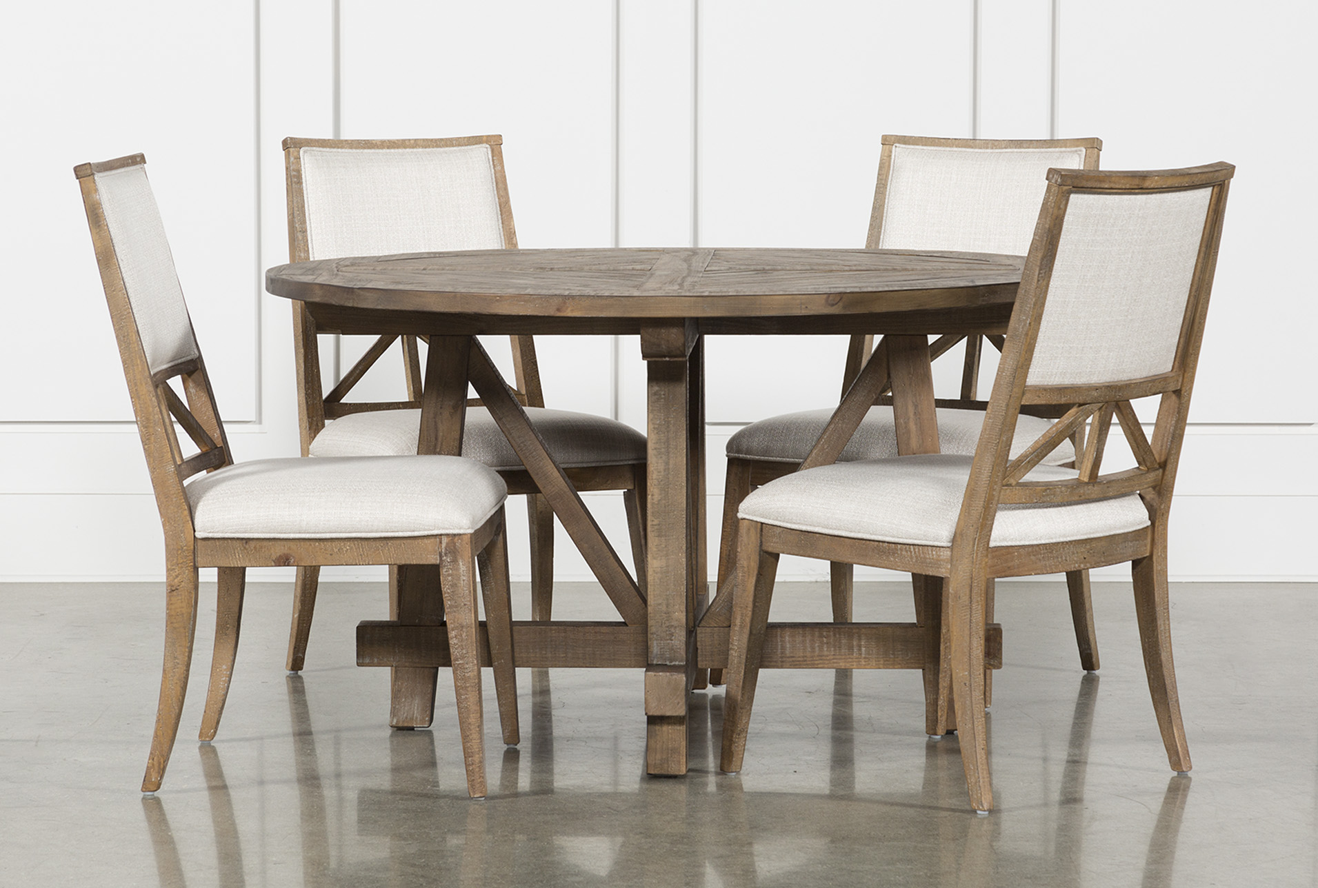 Craftsman 5 Piece Round Dining Set With Uph Side Chairs (Qty: 1) Has Been  Successfully Added To Your Cart.