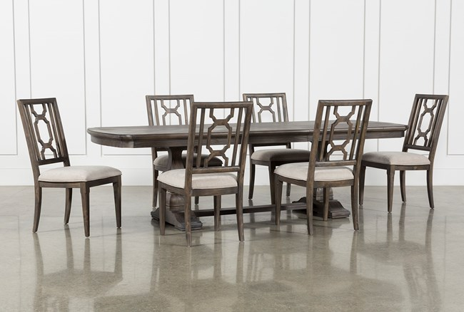 Laurent 7 Piece Rectangle Dining Set With Wood Chairs - 360