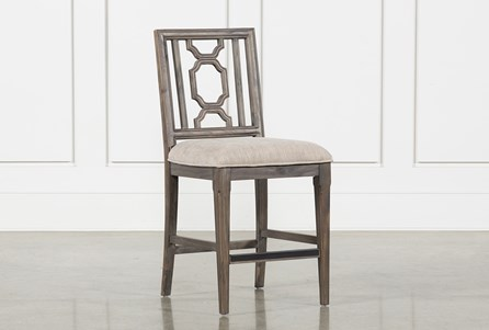Laurent Wood Counter Stool