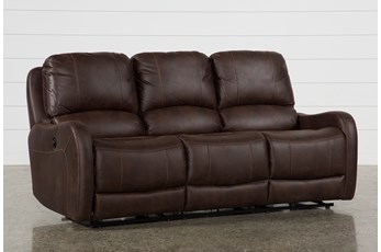 "Davor Brown 81"" Power Reclining Sofa"