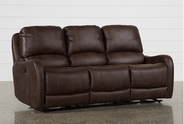 "Davor Brown 81"" Power Reclining Sofa"