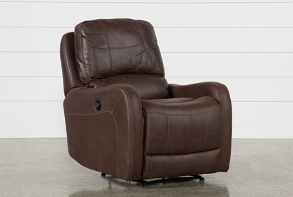 Enjoyable Davor Brown Power Recliner Gmtry Best Dining Table And Chair Ideas Images Gmtryco