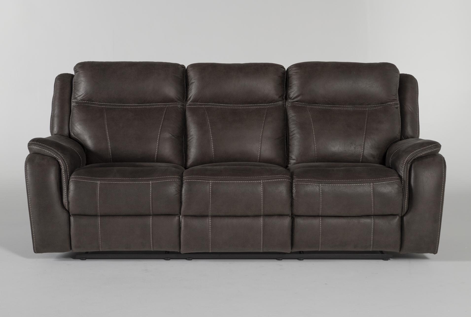 Griffin Grey Reclining Sofa