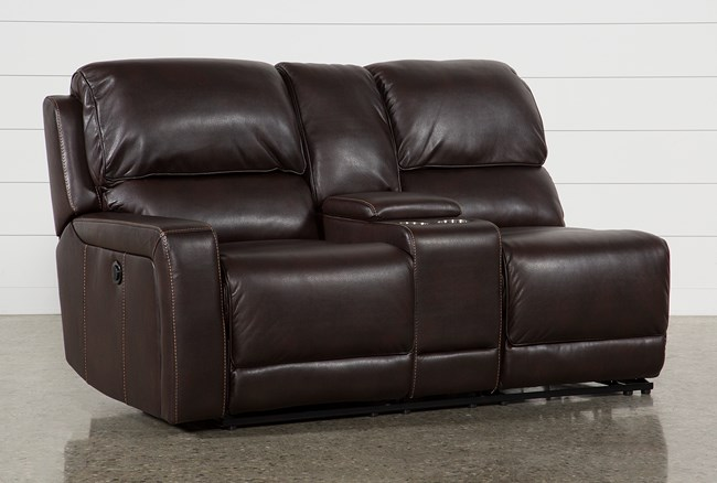 Declan Left Facing Power Reclining Loveseat With Console - 360